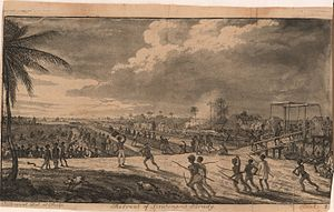 Demerara rebellion of 1823 - Slaves force the retreat of European soldiers led by Lt Brady.