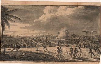 Coromantee - Slaves force the retreat of European soldiers led by Lt. Brady in Guyana