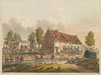 La Belle Alliance - Image: Plate N from 'An Historical Account of the Campaign in the Netherlands' by William Mudford (1817)