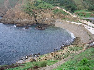 Playa El Desnarigado - Image: Playa del Desnarigado, Ceuta