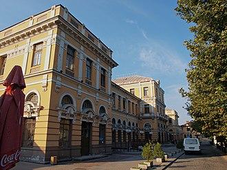 Plovdiv Central railway station - Main facade.