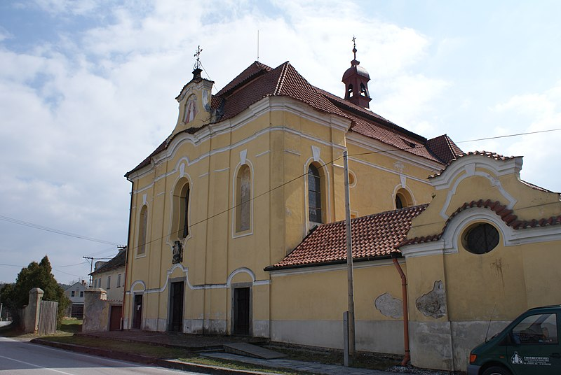 poutní chrám Navštívení Panny Marie Bolestné na Podsrpu