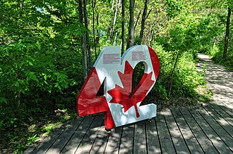 42nd parallel north - 42nd parallel landmark at Point Pelee National Park