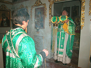 Entrance (liturgical) procession in Eastern Orthodox and Byzantine Catholic churches during which the clergy enter into the sanctuary through the Holy Doors