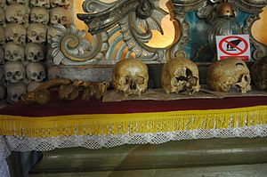 Skull Chapel, Czermna - Image: Poland Czermna Chapel of Skulls altar with skulls 02