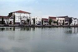 The Tawang polder in front of the Tawang railway station.