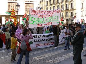 Polisario Front - A pro-Polisario demonstration in Barcelona (2006)