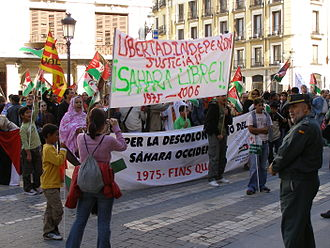 Polisario Front - A pro-Polisario demonstration in Barcelona (2006)