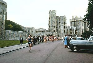 Polytechnic Marathon - Start of the 1967 Polytechnic Marathon at Windsor Castle.
