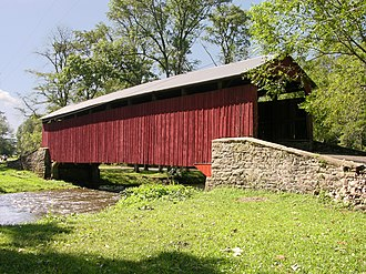 Pool Forge Covered Bridge - Image: Pool Forge Covered Bridge Side View HDR 3200px