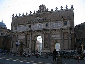 Porta del Popolo - Porta del Popolo, outer façade