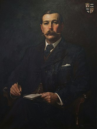 The Six Messiahs - Portrait of Sir Arthur Conan Doyle by Sidney Paget, 1897.