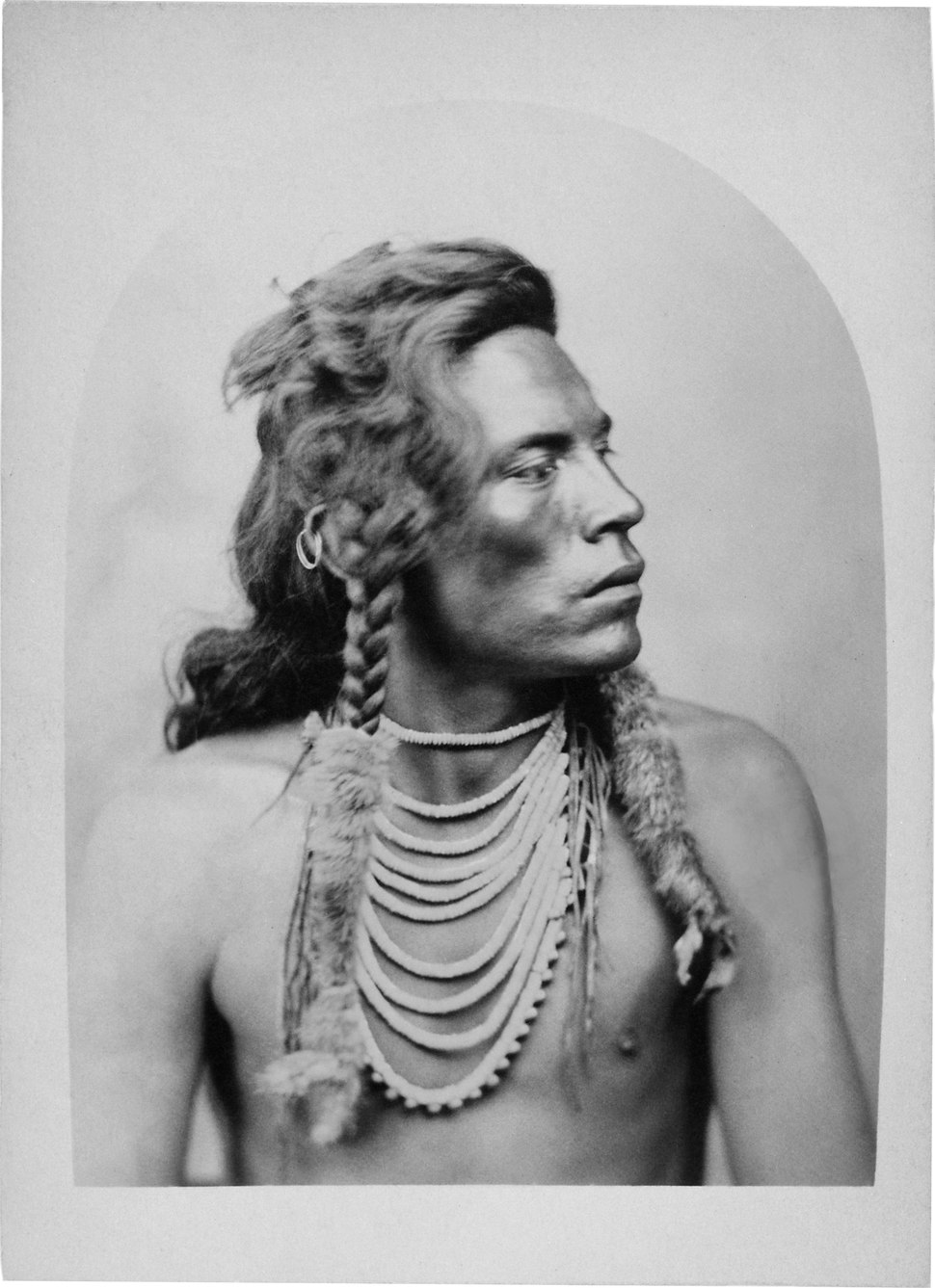 Portrait of Curley, A Crow Indian Scout with the Seventh Cavalry at the Battle of the Little Bighorn - NARA - 533090 NewEdit