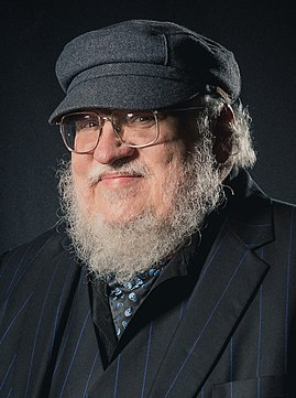 Portrait photoshoot at Worldcon 75, Helsinki, before the Hugo Awards – George R. R. Martin (cropped).jpg