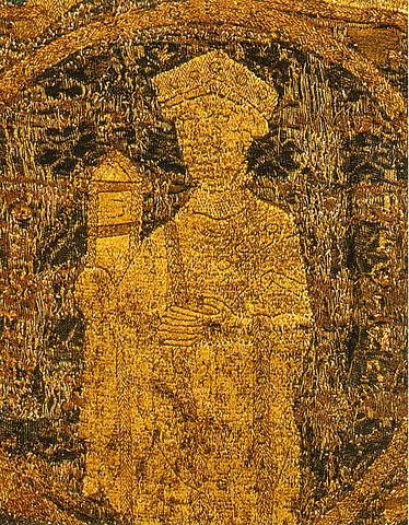 Portrett av dronning Gisela på den ungarske kroningskappen fra 1031, Magyar Nemzeti Múzeum i Budapest