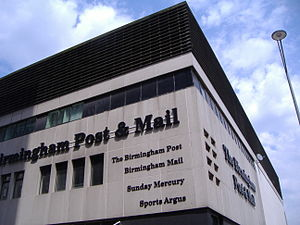 Birmingham Post - John Madin's Birmingham Post and Mail building stood from 1964 until 2005.