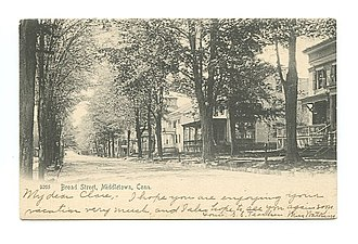 National Register of Historic Places listings in Middletown, Connecticut - Image: Postcard Broad Street Middletown CT1905