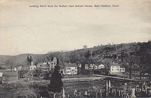East Haddam, Connecticut - Looking north from the Nathan Hale Schoolhouse, 1919