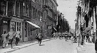1917 Potato riots - Police vs. Civilians during the Riots.
