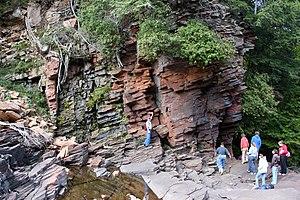 Potsdam Sandstone - Potsdam Sandstone outcrop along the Raquette River
