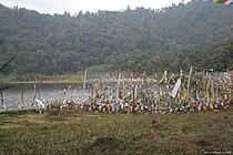 Prayer flags at Khecheolpalri Lake.jpg