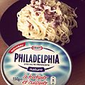 Premier test de la crème Philadelphia. Effectivement, une tuerie. -spaghetti -carbonara (5970594380).jpg