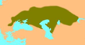 Kipchaks in Eurasia circa 1200 C.E.