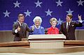 President Reagan Nancy Reagan Barbara Bush George Bush Trip to Texas celebration after Acceptance speech at 1984 Republican National Convention at Dallas Convention Center.jpg