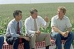 President Ronald Reagan and John Block Visiting The Dee Family Farm in State Center Iowa.jpg