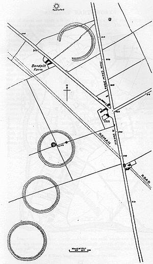 Priddy Circles - Image: Priddy Rings Somerset Map