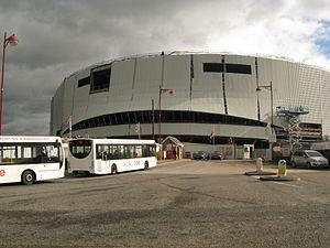 Derby Arena - Image: Pride Park Velodrome, Derby, under construction