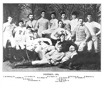 1884 Princeton Tigers football team - Image: Princeton football team, 1884