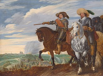 Pauwels van Hillegaert - Frederick Henry, Prince of Orange and Ernst Casimir at the Siege of 's-Hertogenbosch in 1629.