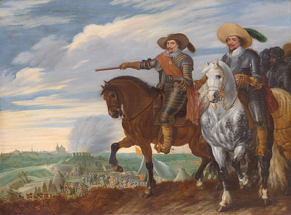 Prins Frederik Hendrik en graaf Ernst Casimir bij het beleg van %27s-Hertogenbosch, 1629 (Pauwels van Hillegaert, 1635)