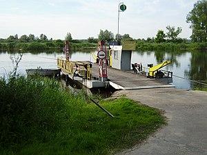 Prom na Warcie w Kłopotowie. Ferry in Kłopotowo (Poland - Warta river).JPG