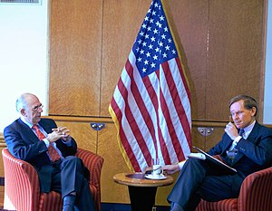 Robert Zoellick - Zoellick (right) with Jan Pronk, the United Nations' special representative to Sudan.