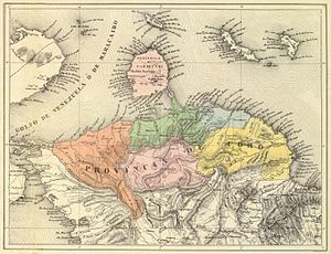 Coro Province - Coro Province in 1840. Map by Agostino Codazzi.