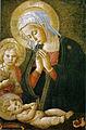 Pseudo-pier francesco fiorentino, madonna col bambino e san giovannino, 1460-1480 circa, uffizi 02.jpg