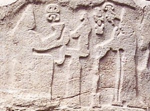 Puduḫepa - The figure on the right is queen Puduḫepa