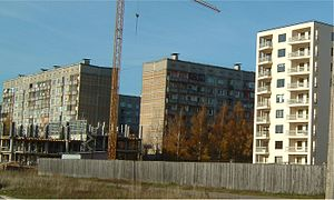 Purvciems - Typical soviet and post-Soviet apartment blocks in Purvciems