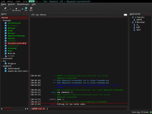 Screenshot of Quassel IRC on Arch Linux