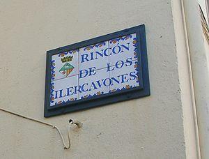 Ilercavones - Name of a street in Queretes.