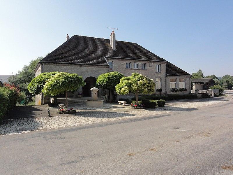Récourt-le-Creux (Meuse) mairie-école