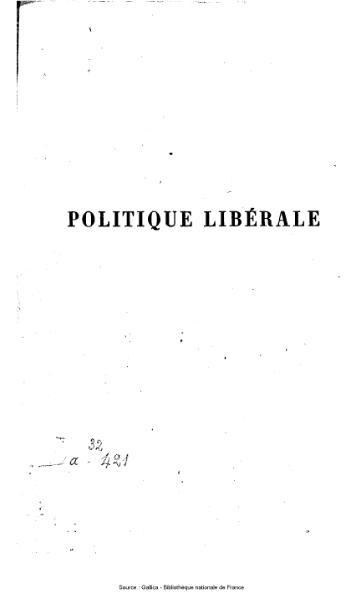 File:Rémusat - Politique libérale, ou Fragments pour servir à la défense de la Révolution française.djvu