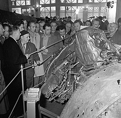 Besichtigung der Wrackteile der U-2