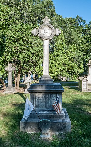 Swan Point Cemetery - Grave of Rhode Island Governor Elisha Dyer, Jr.