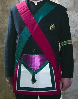 Royal Order of Scotland - The regalia of the Royal Order of Scotland, as worn by a Chaplain of the Order.