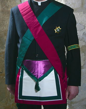 Royal Order of Scotland - The regalia of the Royal Order of Scotland, as worn by a Chaplain of the Order.