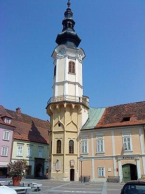 Der Rathausturm von Bad Radkersburg