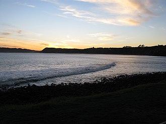 Raglan, New Zealand - View from Manu Bay in Raglan